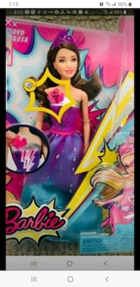 New in box Barbie  with light n music