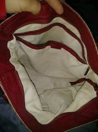 white and red leather hobo bag Clovis, 93612