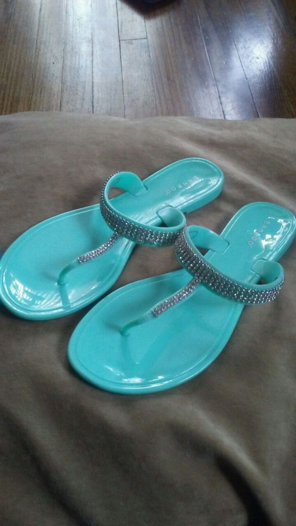 ed5d3efa1 Used Teal jewel sandals for sale in Pontiac - letgo