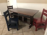 Wood Toddler table & chairs (3) Houston, 77598