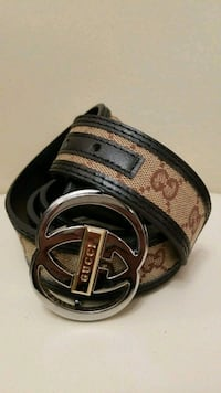 Gucci black leather trimmed belt Montreal, H3W 1H1