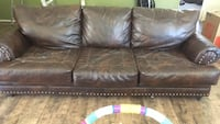 Brown faux leather 3-seat sofa Tulare, 93274