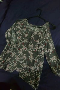 women's green and brown floral dress Prince George, V2N 1M5