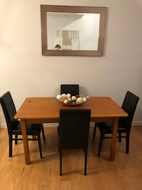 Wood Table W/4 Leather Chairs  Frederick, 21702