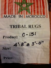 Negotiable in reason Inported Tribal Rugs