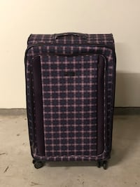 Bob Sherman large pink & purple plaid suitcase!  Fairview, 97024