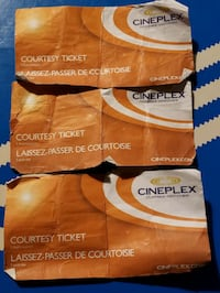 Movie passes 3 for 50$ or 20$ each Edmonton, T5A 3K3