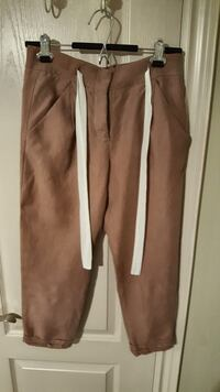 brown and white track pants Vaughan