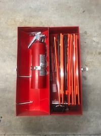 Emergency Highway Traffic Safety Kit with Fire Extinguisher