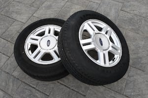 "2 Ford 16"" Rims and Tire For Sale"
