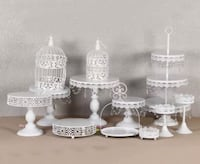 13 pcs White Cake Stand/ Donut Wall AVAILABLE FOR  Toronto, M1B 5J4