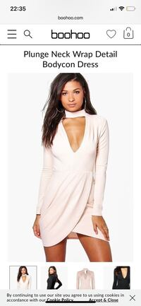 Plung neck wrap dress