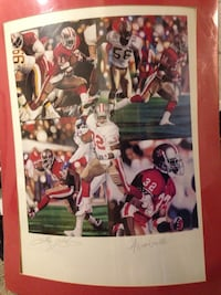 Authentic football poster. Actual player signatures. Winchester, 40391