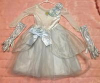 Girl's Disney White Cinderella Gown Costume size XS (4) Los Angeles, 91403
