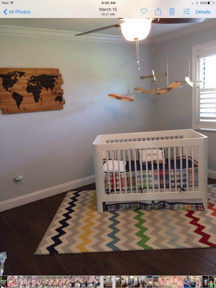 Used Convertible Wooden Crib With Mattress In Lakeland