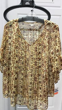 New Style & Co Blouse Size XL