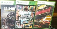 3 xbox360 video games  Winnipeg, R2W