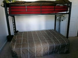 bunk bed with folding futon