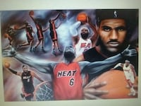 """Air painted lebron James poster 36"""" x 24"""" Wilmington, 28403"""