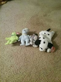 four TY beanie babies Wichita, 67210