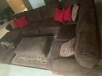 5 piece microfiber sectional in chocolate brown. Pillows included. Excellent condition. Pickup only.  Upper Marlboro, 20774