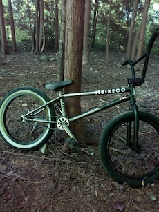 green and white Itbikeco BMX