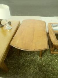 rectangular brown wooden center table
