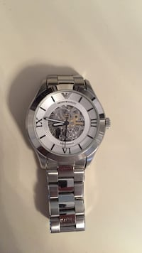 Round silver emporio armani mechanical-analog watch Vaughan, L6A 2N5