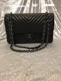 So Black Chevron CHANEL Handbag  Silver Spring, 20901