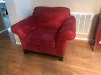 red suede sofa chair with ottoman Columbia, 29201
