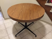 Heavy Duty Round Wood Table With Solid Steel Base Hamilton, L0R 1W0