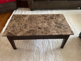 Lift Top Faux Marble Coffee Table