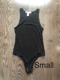 Black Ribbed High Neck Bodysuit