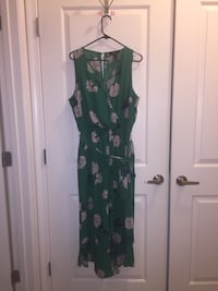 Green Floral Sleeveless Romper w/Belt (Brand New)  Gaithersburg, 20877