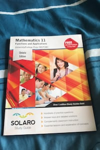 Mathematics 11 functions and applications Waterloo, N2T 2Y2