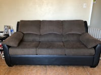 Brown and black fabric 3-seat sofa Scottsdale, 85257