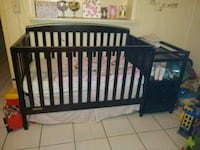 baby's black wooden crib New Port Richey, 34653