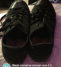 pair of black Converse All Star low-top sneakers screenshot Dieppe, E1A 1A8