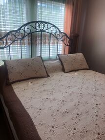 King bed frame with mattress and spring box