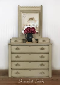 Creamy Off-White Eastlake Dresser or Entryway Piece Warrenton
