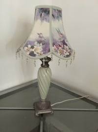 white and purple floral table lamp Washington, 20024