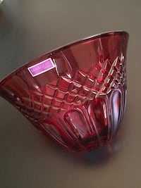 "Waterford Crystal 8""W Shelton Red Bowl Arlington, 22204"