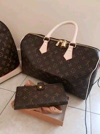 borsa a tracolla marrone in pelle Monogram Louis Vuitton 7423 km