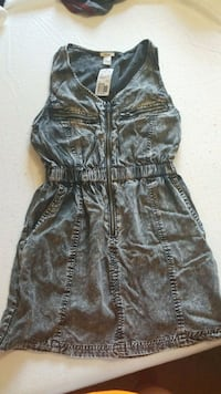 women's black denim sleeveless dress Silver Spring, 20904