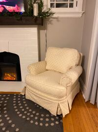Cream colored accent chair
