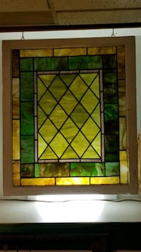 """Antique stained glass window. 35"""" tall x 30"""" wide Norfolk"""
