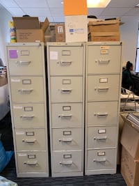 FILE CABINETS WITH KEYS $35 EACH- FIVE DRAWERS