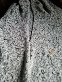 gray knitted coat