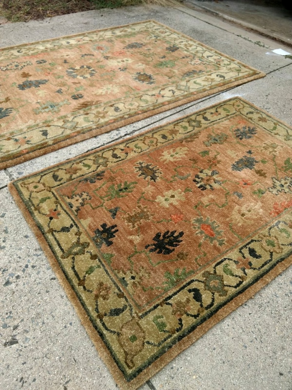 2 hand woven rugs