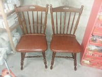 two brown wooden windsor chairs Topeka, 66614